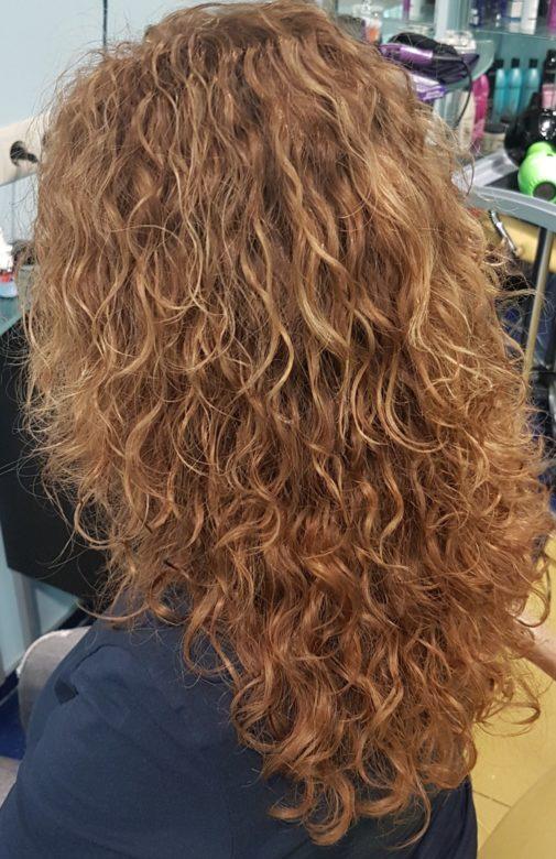 Волосы после завивки