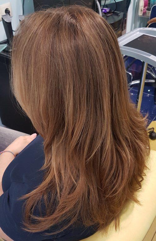 Прямые волосы перед завивкой